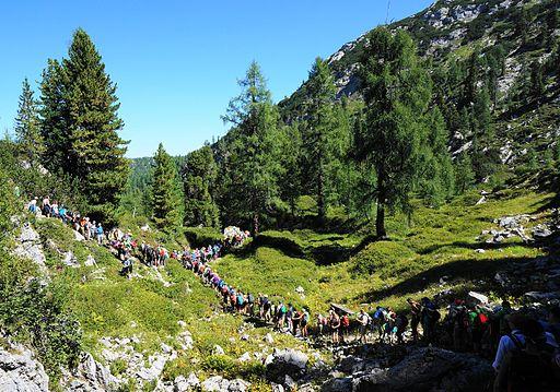 Bartholomä Wallfahrt - Abstieg vom Steinernen Meer zum Funtensee