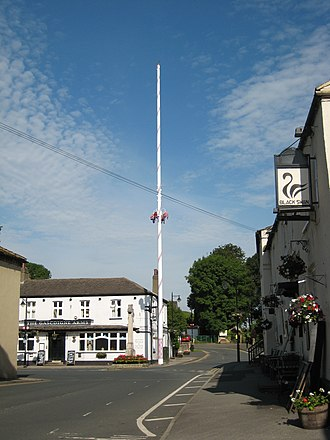 Barwick-in-Elmet - Image: Barwick Maypole cross pubs 14 June 2017