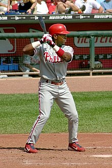 Jimmy Rollins at the plate
