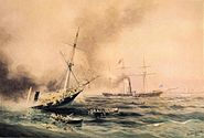 Battle of Kearsarge and Alabama (1892) by Xanthus Smith