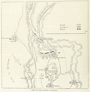 Battle of Roliça - A map of the battle