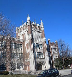 Bayonne High School - Image: Bayonne HS north tower jeh