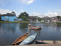 Bayou St John 4th of July 2013 Row Barge 1.JPG