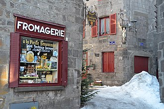 Besse, Cantal - The cheese shop in Besse