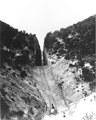 History of the San Fernando Valley - Beale's Cut through the San Fernando Pass, c.1872