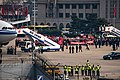 Beijing Medical Assistance Team disembarking from CA042 at PEK (20200331150313).jpg