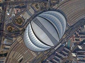 Beijing South railway station - Satellite picture of the Beijing South Railway Station in 2017
