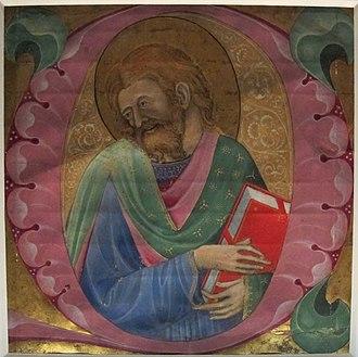 Belbello da Pavia - Image: Belbello da pavia, santo con libro, 1450 ca