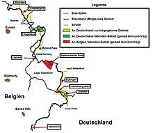 Belgien Karte Umriss.Ostbelgien Wikipedia