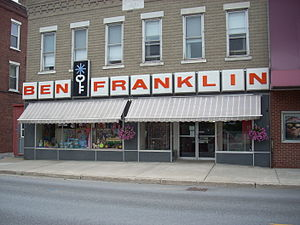 Ben Franklin (company) - A Ben Franklin Store in Middlebury, Vermont, in 2008