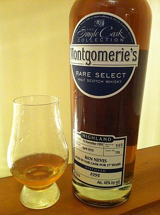 Ben Nevis distillery - A 17 yr independent bottling of casks from the Ben Nevis distillery.