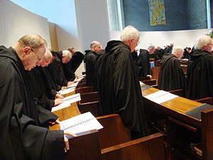 Order of Saint Benedict - Benedictine monks singing Vespers on Holy Saturday in Morristown, New Jersey, U.S.