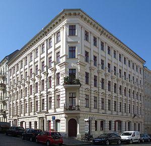 Architecture in Berlin - Residential block in Berlin Kreuzberg. Built in 1890.