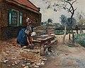 Bernard Koldeweij - Wasdag op Walcheren - Olieverf op doek, 1890.jpg