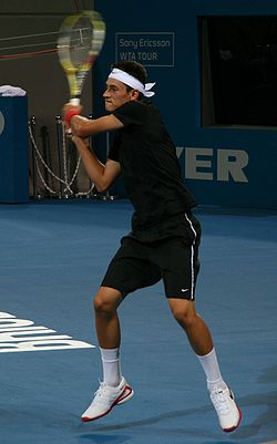 Bernard Tomic at the 2009 Brisbane International.jpg