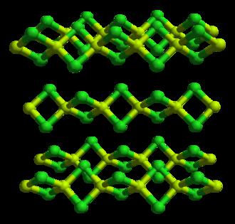 Beryllium chloride - Image: Beryllium chloride xtal 3D balls A