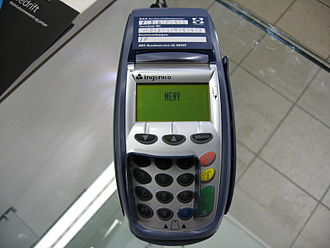 Payment terminal - A typical counter-top payment terminal from 2007