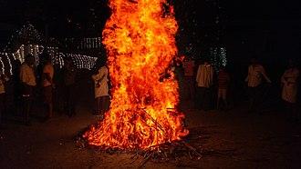 Makar Sankranti - Bhogi Flames in Andhra Pradesh