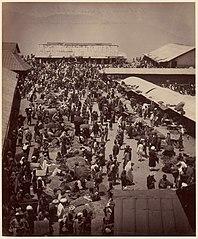 Bhutan and Nepalese People at Darjeeling, Sunday Morning Market Scene