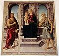 Biagio d'antonio, Madonna tra i santi Giovanni Battista e Girolamo, 02.JPG