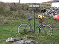 Bicycle as planter, Polgown - geograph.org.uk - 1552629.jpg
