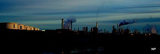 Irving Oil - Original refinery on the east side of Saint John, New Brunswick