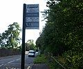 Bilingual bus stop sign - Welsh side - geograph.org.uk - 1595828.jpg