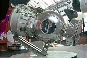 Bion (satellite) - A Bion spacecraft, on display