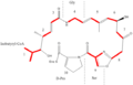 Biosynthetic origins Virginiamycin M1.png