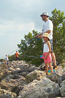 Biscayne National Park V-dad daughter fishing.jpg