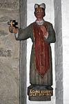 Nutidig skulptur af Egino i Dalby kirke.