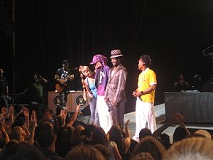 Black Eyed Peas performing.