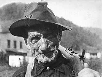 Battle of Blair Mountain - Blair Mountain miner with his rifle slung over his shoulder.