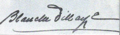 Blanche Dillaye signature.png