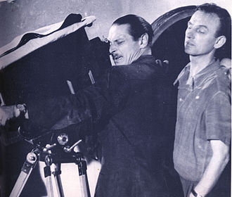 Václav Vích - Alessandro Blasetti and Vích on set