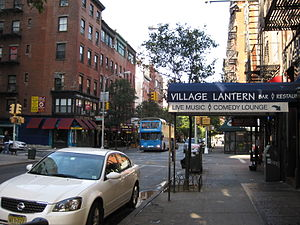 Bleecker Street - Bleecker Street near the corner of Sullivan Street
