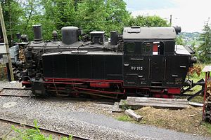 99 193 bei der Museumsbahn Blonay–Chamby