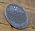 Blue plaque, All Saints Church - geograph.org.uk - 1415119.jpg