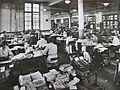 Blythe House preparing totals for daily balance 1930s.JPG