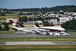 Boeing 737-7JW (W) BBJ in front of a Boeing 747-8ZV BBJ - M-GEAA & VQ-BSK (ZRH) (21088869490).jpg