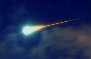 Meteorite - A bolide: a very bright meteor of an apparent magnitude of −14 or brighter.