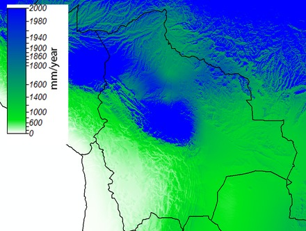 Mean annual precipitation in Bolivia Bolivia prec.tif