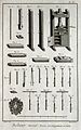 Bookbinding; book presses, and decorating tools. Engraving b Wellcome V0023791ER.jpg