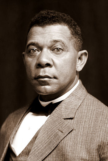 Booker T. Washington, half-length portrait, seated