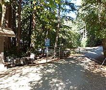 A photo of the entrance to the Boulder Creek Scout Reservation in Boulder Creek, California