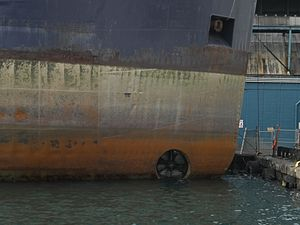 Bow thruster of the lake freighter Tim S. Dool, moored at the Redpath Sugar Refinery -d.jpg