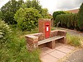 Bradpole, seat and postbox No. DT6 34, Jessopp Avenue - geograph.org.uk - 1364307.jpg