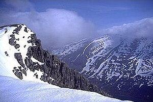 Braeriach - Braeriach seen from Sgor Gaoith, across Glen Einich