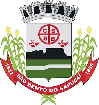 São Bento do Sapucaí - Image: Brasao saobentodosapucai