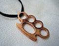 Brass knuckle pendant.JPG